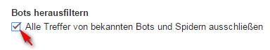Google Analytics - Bots herausfiltern