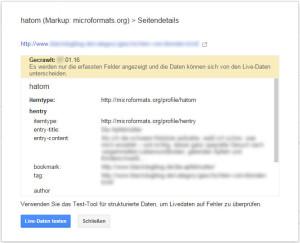 hatom Fehlermeldung in der Google Search Console